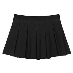 Image 5 - Women Charming Cheerleader Cosplay Costume School Girls Sexy Cosplay Round Neck Sleeveless Crop Top with Mini Pleated Skirt