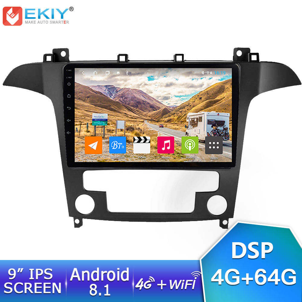 EKIY 9'' IPS Car Radio Android 8.1 Auto Stereo 4G+64G Multimedia For <font><b>Ford</b></font> S-<font><b>Max</b></font> <font><b>Ford</b></font> s <font><b>max</b></font> 2007 2008 <font><b>GPS</b></font> Navi Navigation Player image