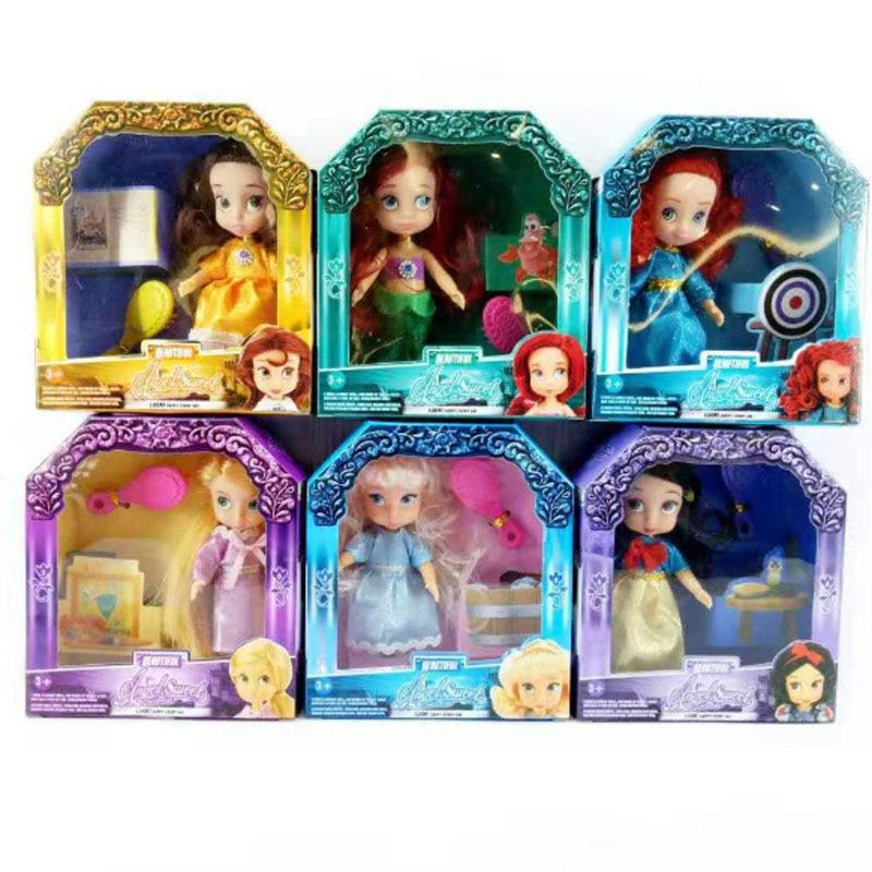 Rapunzel Doll Animator Ariel Doll Sharon Ariel Doll Princess Doll With Box Snow White Rapunzel Cinderella Girl Aurora Doll 1Pcs