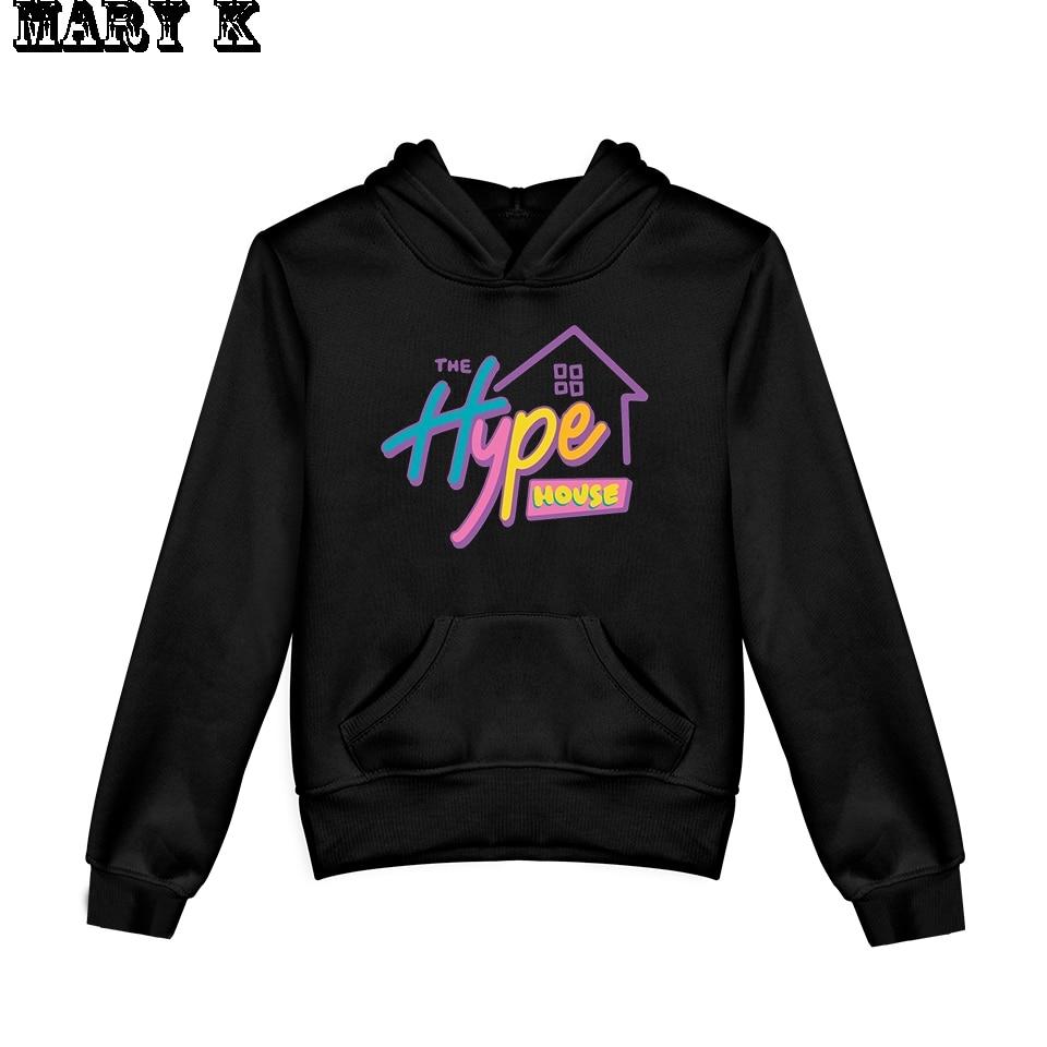 2020 NEW The Hype House Kids Hoodie Sweatshirts Boy Girl Charli Damelio Hoodies Pullover Unisex Harajuku Tracksuit
