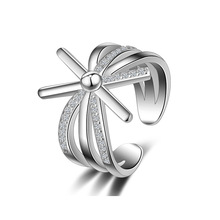 Fashion S925 Sterling Silver Ring Micro-inlaid Zircon Opening Ring Personality Sun Flower Shape Rings for Women trend Jewelry цена в Москве и Питере