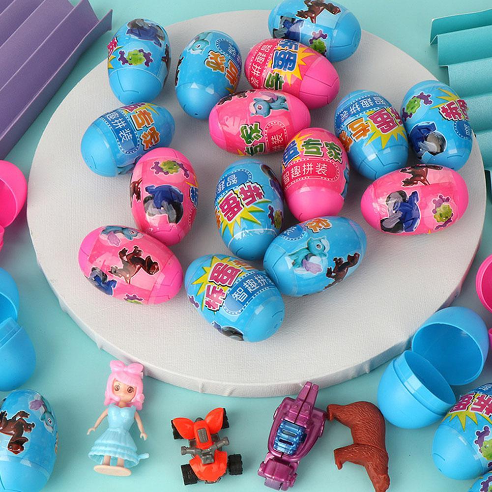 30pcs Children Kids Surprise Split Egg Toy Puzzle Parent-child Interaction DIY Assembling Model Toys