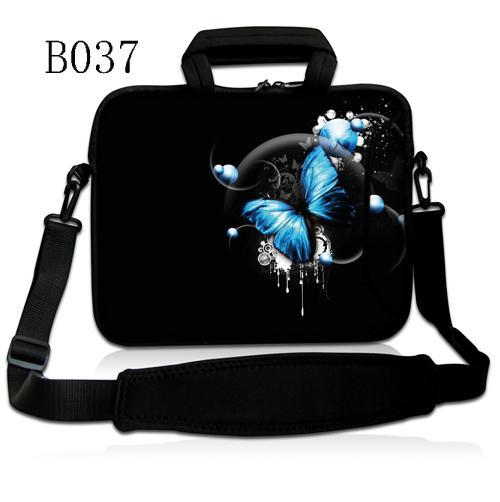 Blue Butterfly 10.1 10 Laptop Sleeve Shoulder Bag Case for Samsung Galaxy Tab Tablet/10.6 Microsoft Surface RT / iPad 1 2 3 4 image