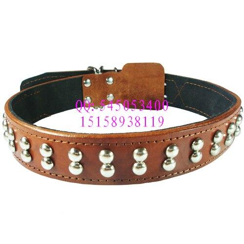 Cow Leather Collar Dog Collar Genuine Leather Collar Cattle Hide Bandana Pet Supplies Dog Chain