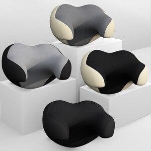 Image 1 - Poggiatesta per Auto cuscino per poggiatesta supporto per la testa cuscino di sicurezza nero automatico decorazioni universali in pelle PU accessori per Auto schienale