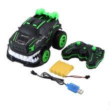Новинка 85J 2,4G спецэффекты 360 градусов вертикальный вращающийся пульт дистанционного управления автомобиль дьявол большой зуб внедорожная электрическая модель игрушки