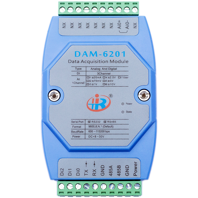 New DAM6201 mixed analog digital input data acquisition module Modbus voltage current converter