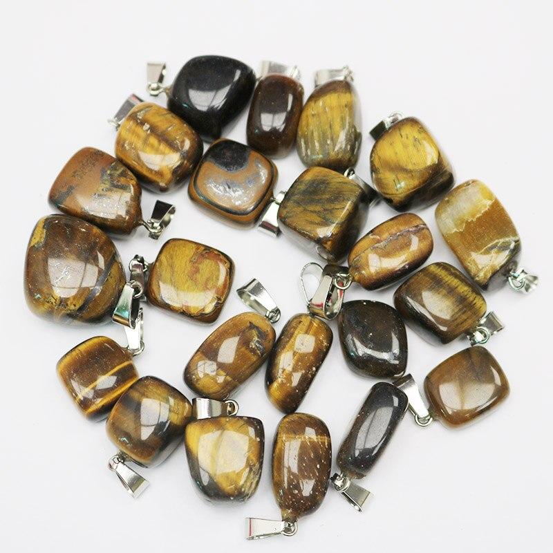 Wholesale 30pcs//lot  MIX Natural Stone pentagram Gemstone Necklace Pendant gift