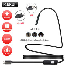 KERUI-endoscopio para Smartphone Android, endoscopio de 7mm y 5,5mm, Mini cámara de 1m, 1,5 m, 3,5 m, 5 m, impermeable, inspección para coche y PC(China)