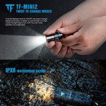 MINI2 USB 충전 LED 손전등 220LM EDC 키 체인 나사 충전식 10180 리튬 배터리 토치 IPX8 방수 손전등