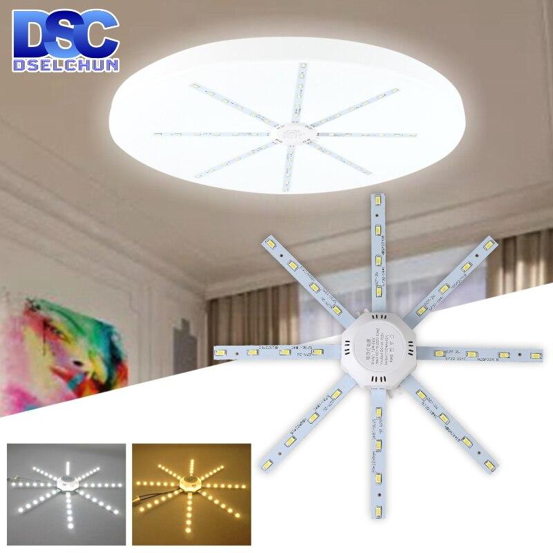 Fuente de luz de techo 12W 16W 20W 24W LED lámpara de techo Octopus módulo tablero de luz 220V bombilla Led fácil de instalar luz de techo Lámparas de bombilla Led E27/E26 lámpara de mesa Flexible brazo oscilante abrazadera montaje lámpara Oficina estudio hogar mesa escritorio luz UE/EE. UU. Enchufe AC85-265V