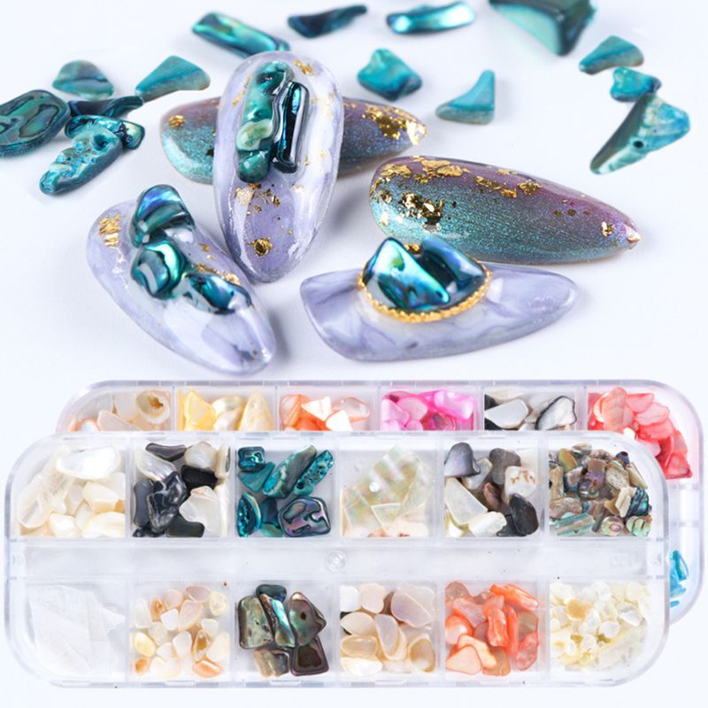 Epoxy Filling Material DIY Nail Art Filler Popular Shell Stone Beauty Nails Applique Decorative Jewelry Crafts Making