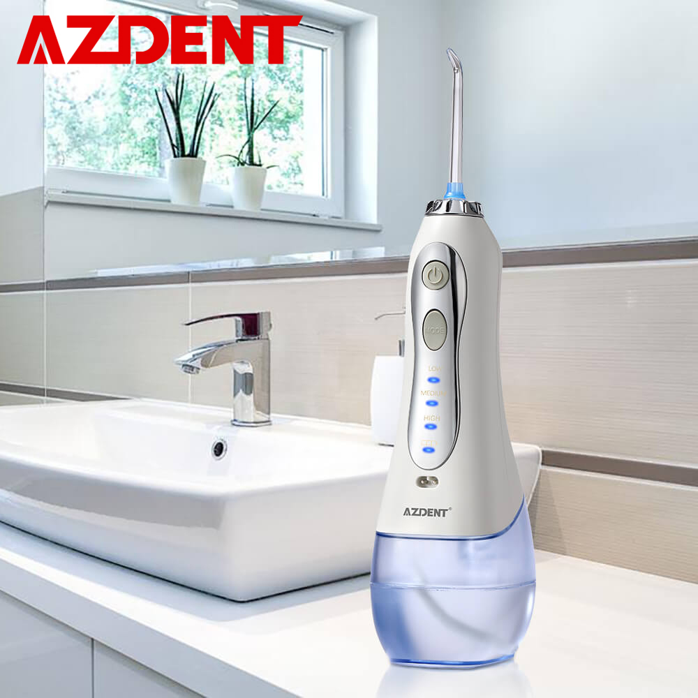 Nuevo irrigador Oral inalámbrico de 3 modos portátil de agua Dental Flosser USB recargable de agua irrigador Dental con chorro de dientes 5 puntas de chorro 300ml