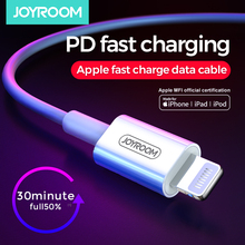 Joyroom MFi USB Type C to Lightning Cable For iPhone 11 Pro 8 Plus USB PD Fast Charger USB Cable For iPhone XR X XS Max PD Cable usams usb type c to lighting cable 18w pd fast charging cable for iphone xs max xr x 8 plus ipad pro for lightning to usb c wire