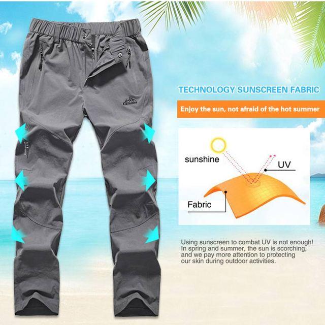 Походные женские штаны лёгкие и непромокаемые с карманами 3