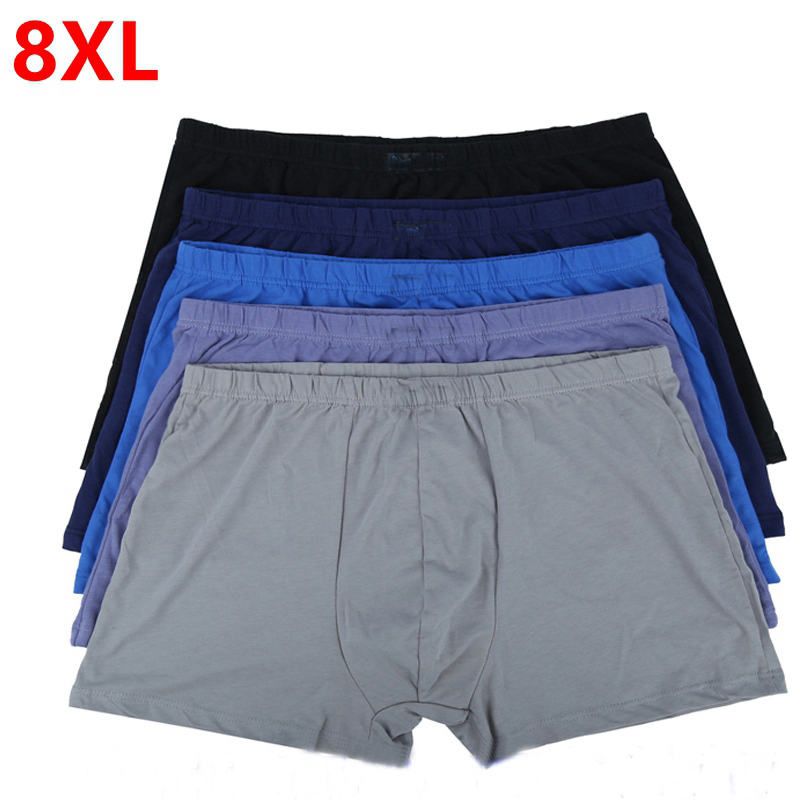 Large Loose Male  Cotton Underwears Boxers High Waist Panties Breathable Fat Belts Big Yards Men's Underwear Plus Size