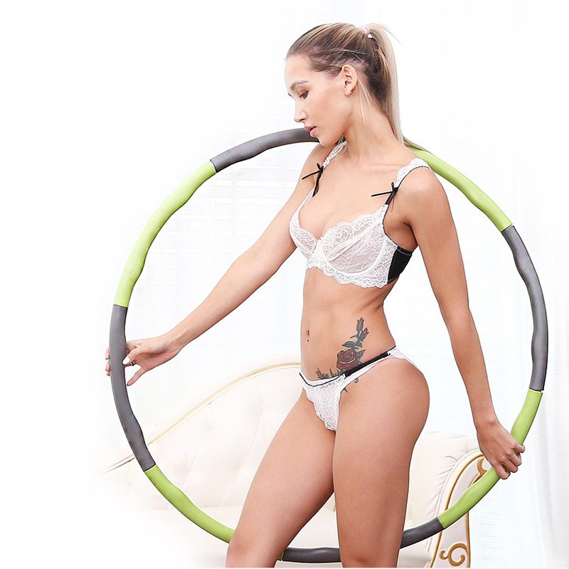 Yoga Waist Exercise Slimming Sport Hoops Massage Loops Gymnastics Ring Hard Tube Circle Women Reduce Weight Fitness Equipment