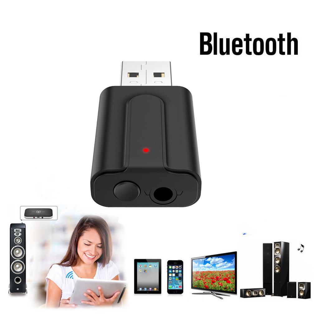 2in1 Wireless Bluetooth4.2 Audio Transmitter Receiver HIFI Music Adapter RCA AUX
