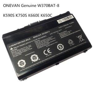 ONEVAN Genuine W370BAT-8 6-87-W37SS-427 W350ET Battery for Clevo W370ET W350ST W350ETQ W370SK K590S K650C K750S W35XSS(China)