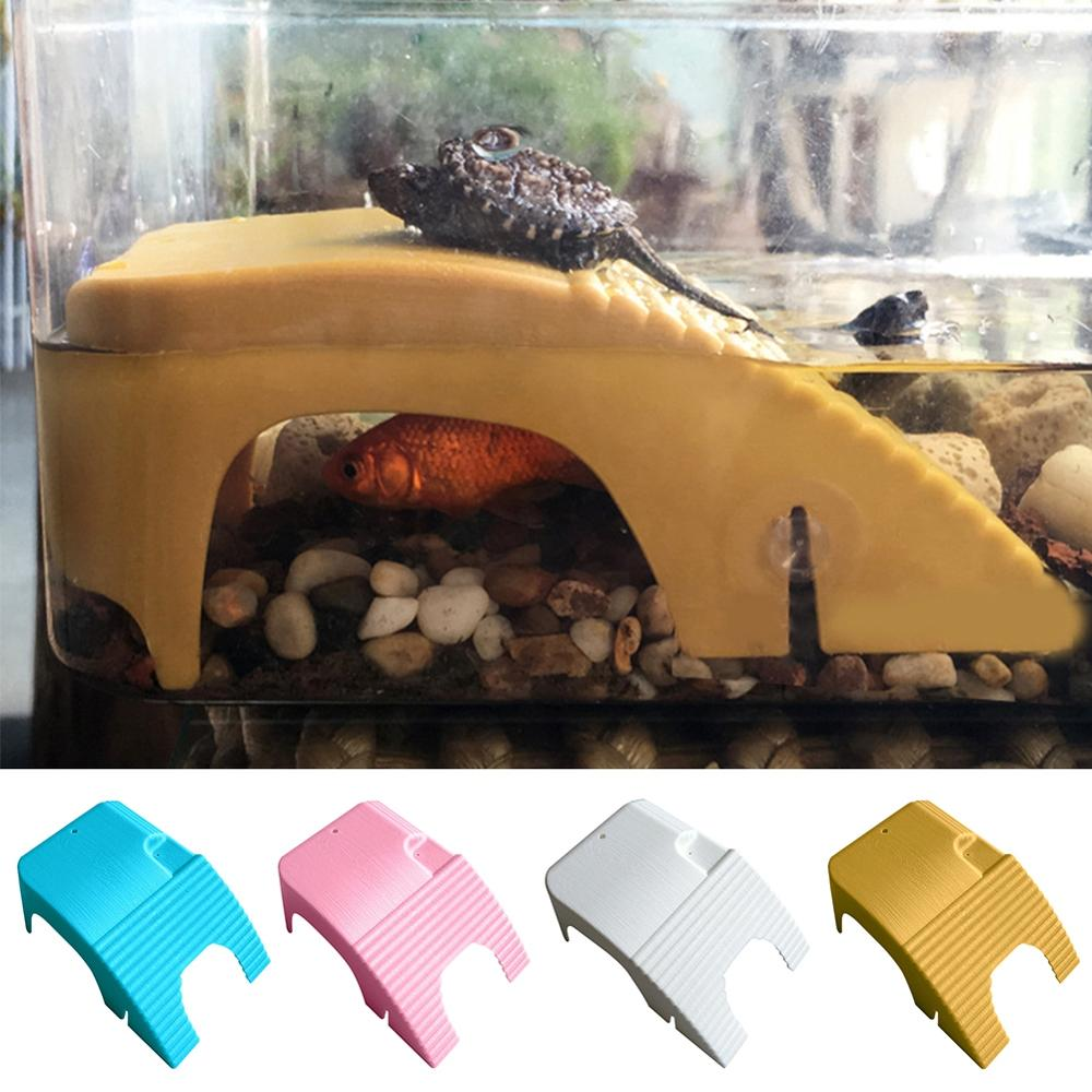 Reptiles Floating Platform With Suction Cups, Turtle Plastic Basking Platform With Ladder Suitable For Small Pets Of All Sizes