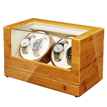 Watch-Winder Mabuchi Double-Quiet Automatic Wood JQUEEN Bamboo with Motors/5-Working-Modes
