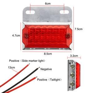 Image 5 - 2/4/6/10 sztuk 24V 15 światła obrysowe LED oświetlenie samochodu lampy zewnętrzne Squarde ostrzeżenie tylne lampy kierunkowskazu u nas państwo lampy Auto ciężarówka z przyczepą ciężarówki