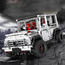 G500 Wagon compatible Legoed Technic 1696PCS 4 Wheel Drive white suv off-road building block 13069 assemble toy figures(China)
