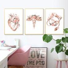 Креативное медицинское оборудование плакат теплый цветок сердце