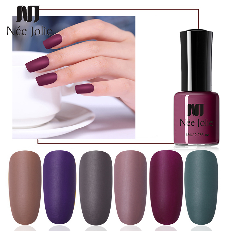 NEE JOLIE 8ml Matte Dull Nail Polish Need Top Coat Art Varnish Hybrid Soak Off Lacquer Design