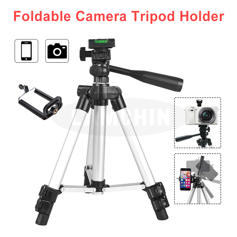 Professional Phone Photography Tripod Holder Built In Level Four Section SLR Camera Tripod With Mini Two-Section Tripod Holder