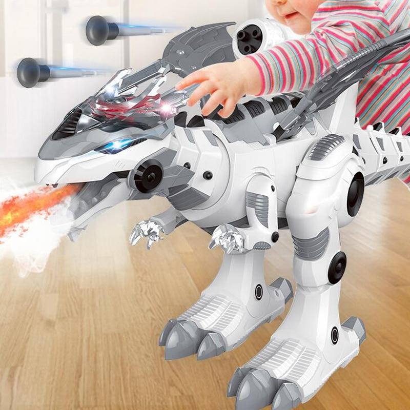 Large Remote Control Animal Dinosaur Spray Mechanical Dinosaur Electric Intelligent Robot Fighting Dragon Children's Toys