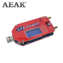 AEAK DP3A Digital display USB adjustable power module DC 1-30V 15W QC 2.0 3.0 FC