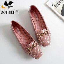 Frauen Flache Schuhe 2019 Lässige Mode Slip on Ballerina Frau Wohnungen Patent Leder Müßiggänger Damen Frühling Herbst dame Schuhe neue