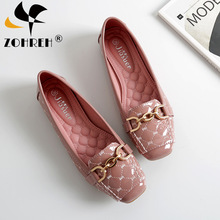 Women Flat Shoes 2019 Casual Fashion Slip-on Ballerina Woman Flats Patent Leather Loafers Ladies Spring Autumn lady Footwear New