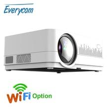 最新HQ3 wifiプロジェクタービデオprojecteur everycom HQ2 3000ルミhd 1280*720 1080p ledホームシアター映画ビーマーproyector portatil