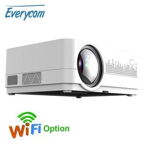 Image 1 - Mais novo hq3 projetor wi fi vídeo projecteur everycom hq2 3000 lumi hd 1280*720p led cinema em casa beamer proyector portatil,Este é um código de desconto 50 menos 7: DISC7