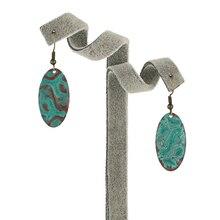 Trendy Copper base metal oval earring jewelry
