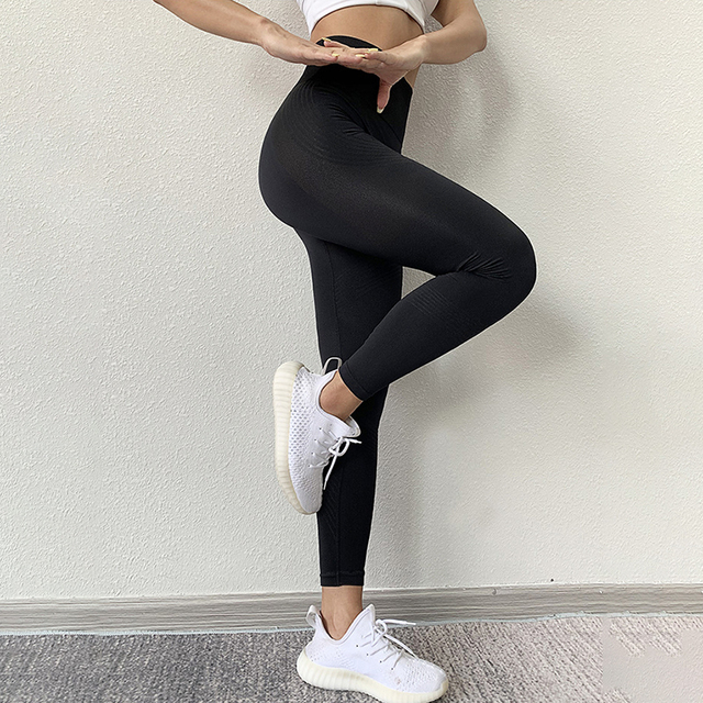 NORMOV Seamless Women Leggings Casual High Waist Push Up Ankle Length Leggings Workout Jeggings Patchwork Fitness Leggings Gril 10