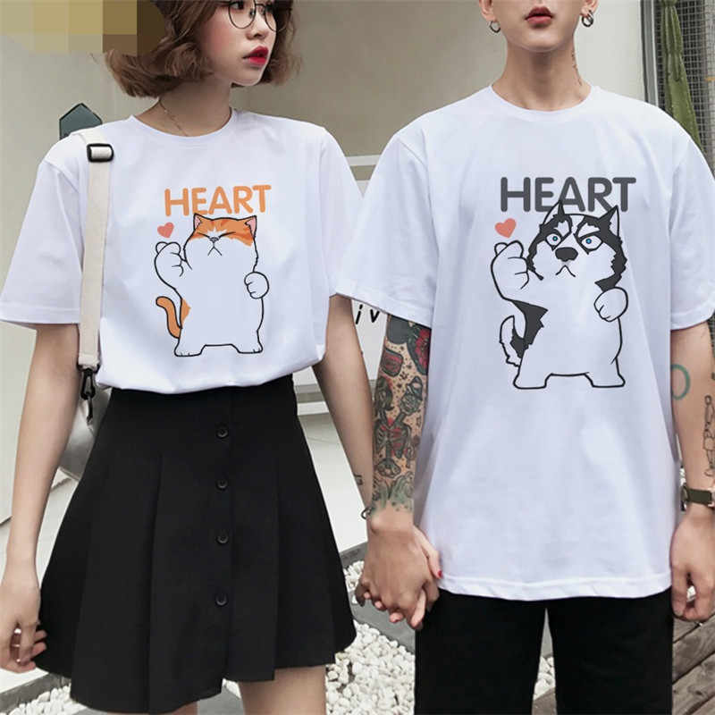 Aniywn Couple Matching T-Shirt Valentines Day Short Sleeve Love Letter Print T Shirts Graphic T-Shirt
