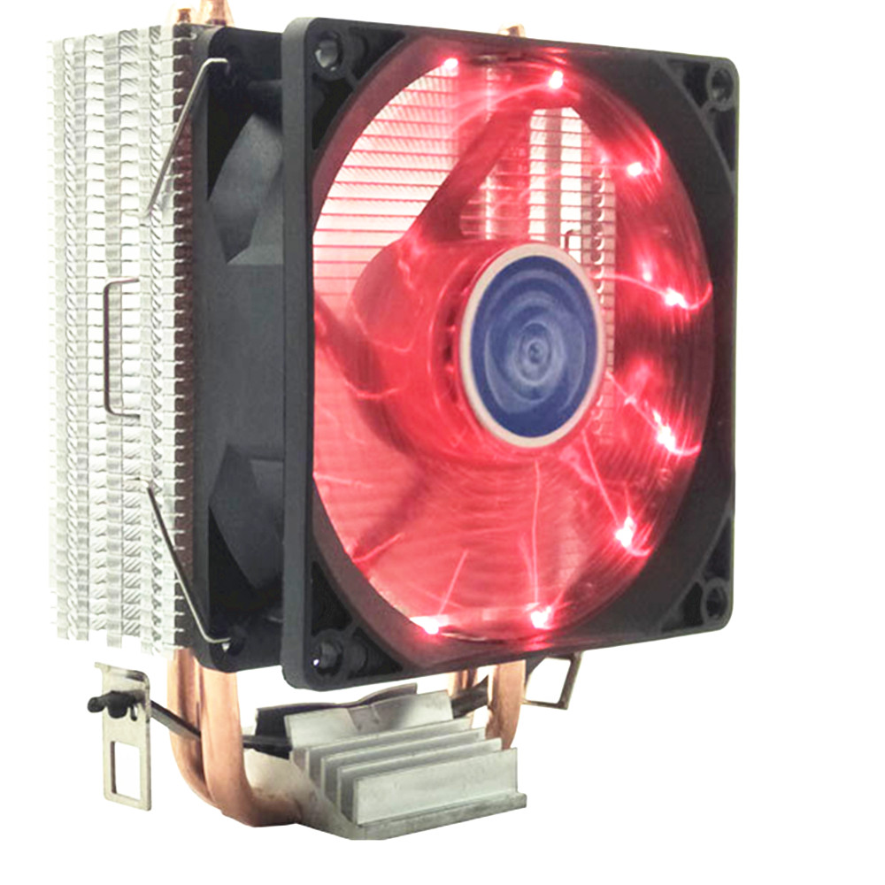 90mm 3Pin <font><b>CPU</b></font> <font><b>Cooler</b></font> Heatsink Quiet fans for Intel LGA775/1156/1155/<font><b>1151</b></font>/1366/2011 for AMD 2 heat pipe radiator <font><b>cpu</b></font> fan image