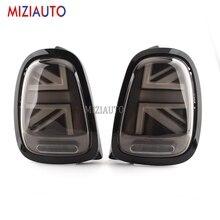 цена на 1 Pair Rear Tail lights For BMW MINI F55 F56 F57 2013-now Black White LED Tail Stop Brake Lamp Rear Bumper Fog light