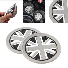 7.7 Mm Silica Gel Mobil Piala Pad Anti-Slip Tikar untuk BMW MINI COOPER 2011 2012 2013 R55 R56 x6HF(China)