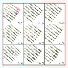 7 sztuk/zestaw diamentowe wiertło do paznokci Rotery elektryczne frezy do Pedicure Manicure pliki skórek Burr Nail Tools Accessorie