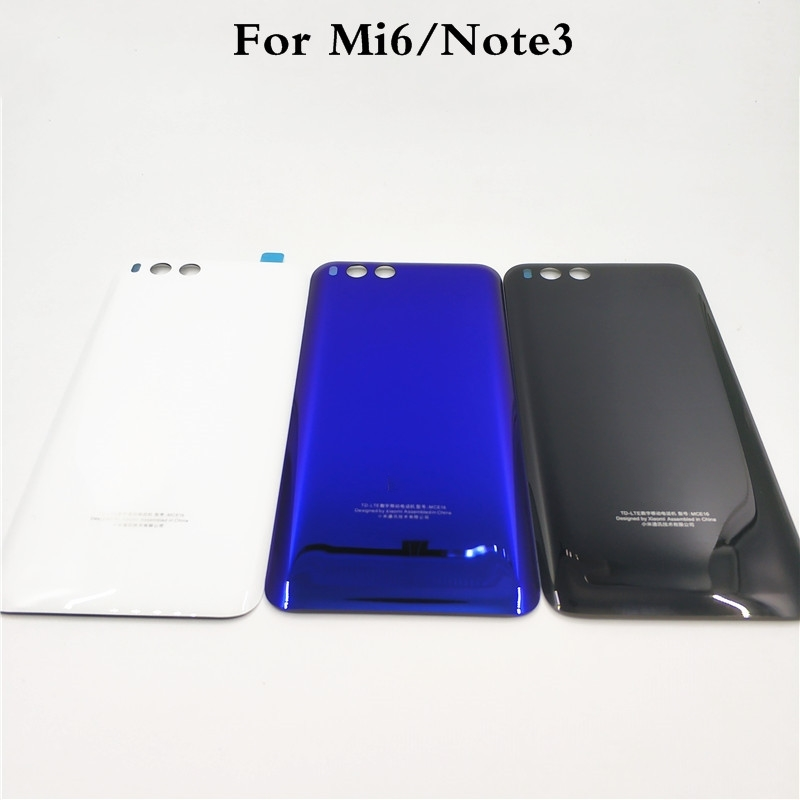 <font><b>Original</b></font> For <font><b>Xiaomi</b></font> Mi 6 <font><b>Mi6</b></font> Note 3 Back <font><b>Cover</b></font> <font><b>Battery</b></font> Glass Housing For <font><b>Xiaomi</b></font> Note3 Rear <font><b>Cover</b></font>+3M Sticker Replacement Parts image