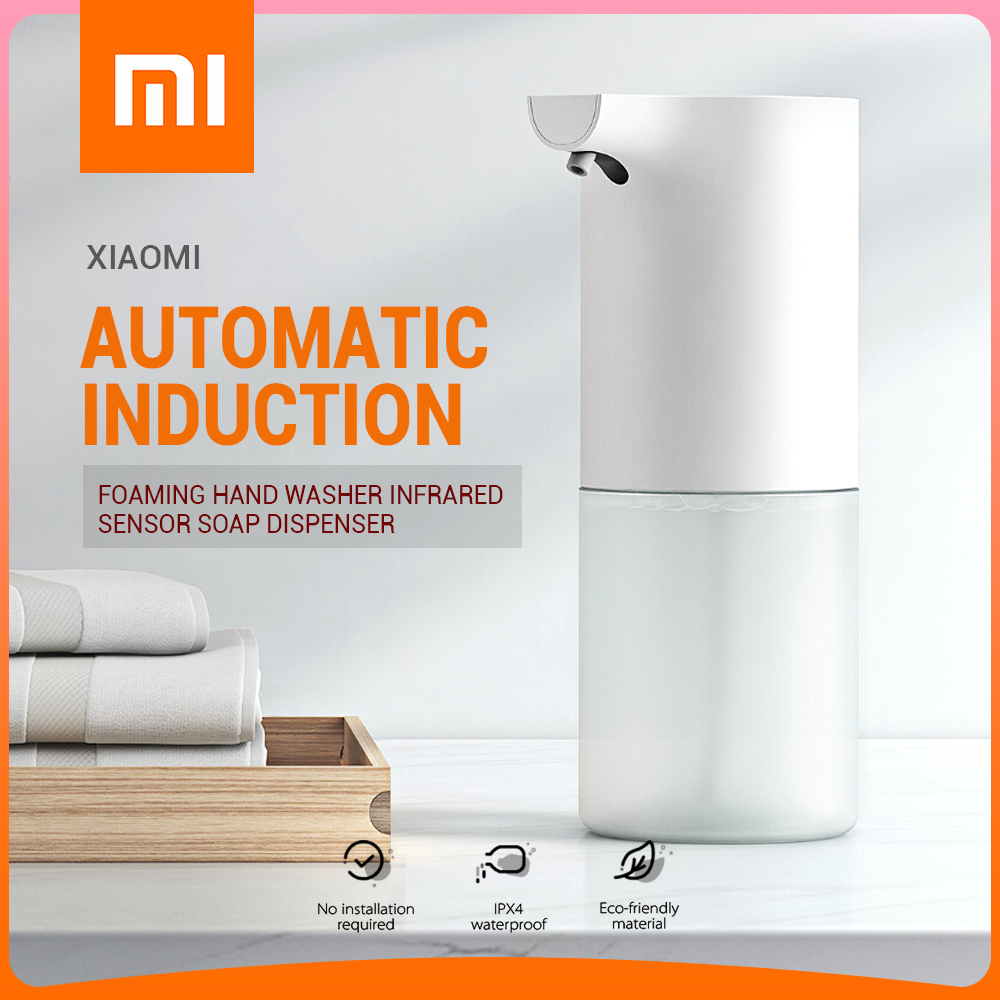 Xiaomi 60-90MM Automatic Induction Sensor Foaming Soap Dispenser Infrared Foaming Hand Washer IPX4 Soap Dispensers For Bathroom image