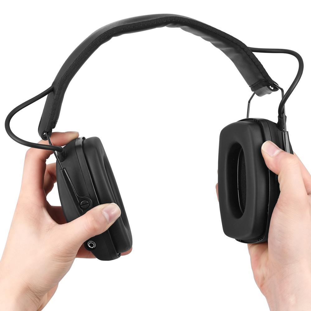 Электронные Наушники ZOHAN для съемки, защита ушей, усиление звука, защита от шума, профессиональный охотничий защитник для ушей, для спорта на открытом воздухе-2