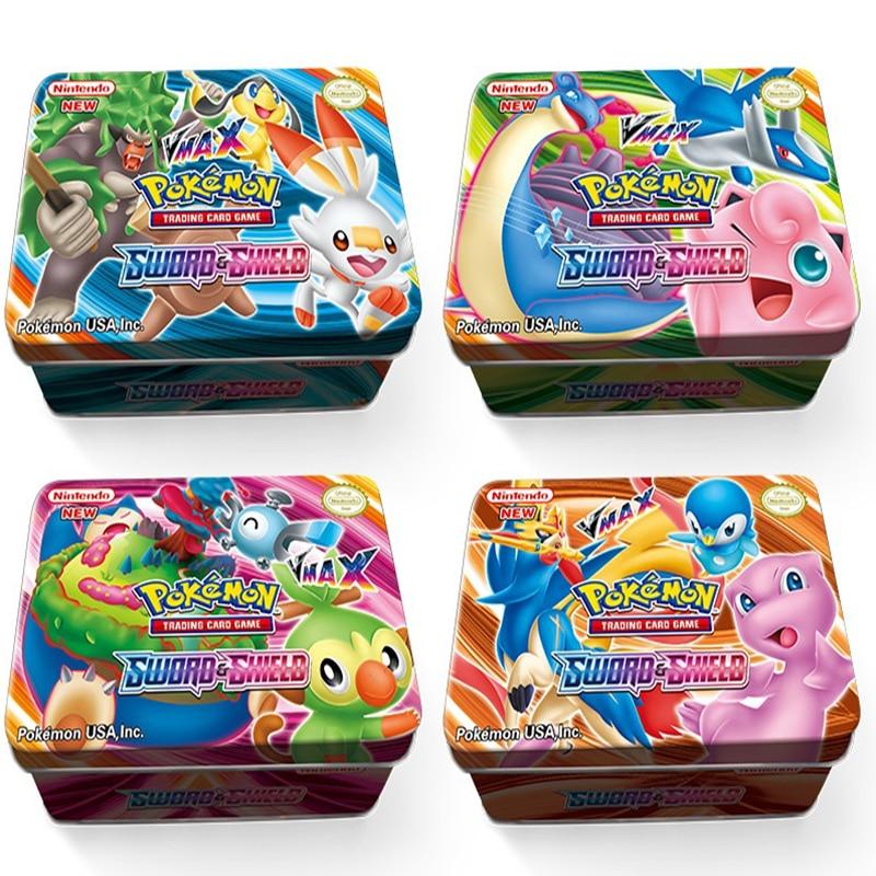 NEW 42Pcs English Max Tag Team Shining TAKARA TOMY Pokemon Cards English Game Battle Carte 42pcs Trading Cards Game Children Toy
