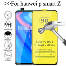 Full Glue cover tempered glass For huawei p smart Z 9D screen protector Film huawey y9 prime 2019 psmartz safety tempered Glas(China)