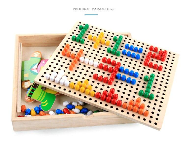 criancas brinquedo de madeira vestir quebra cabecas montessori brinquedos criancas 05