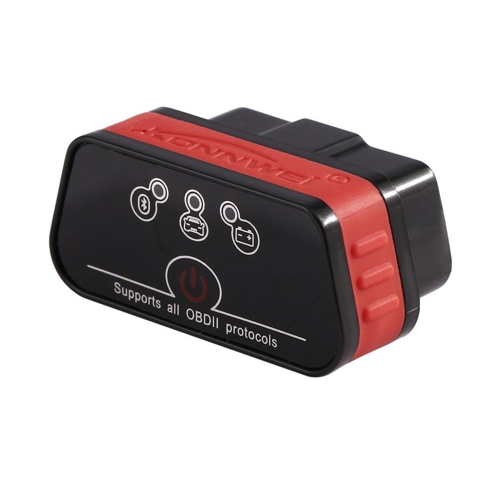 Konnwei KW901 ELM327 OBD2 Interface Car Diagnostic Tool Bluetooth 3.0 Automatical OBDII Car Fault Diagnostic Tool Code Scanner